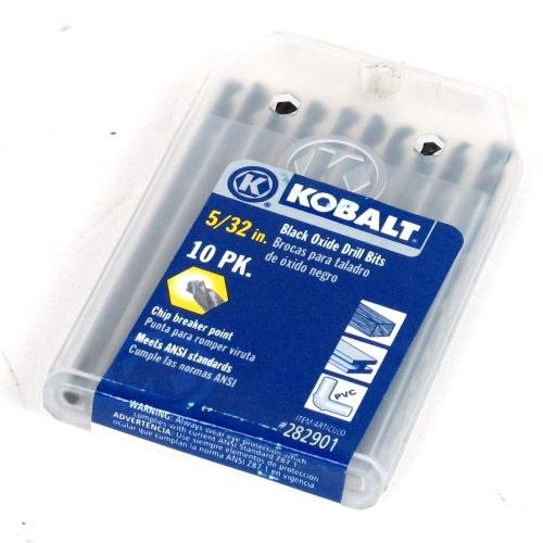 "Kobalt 10-Pack 5/32"" Black Oxide Twist Drill Bits"