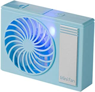 Table Fan Summer Small Fan Mini Outdoor Air Cooling Fan Indoor Desktop Portable Handheld Fan Desktop Fan (Color : Blue)