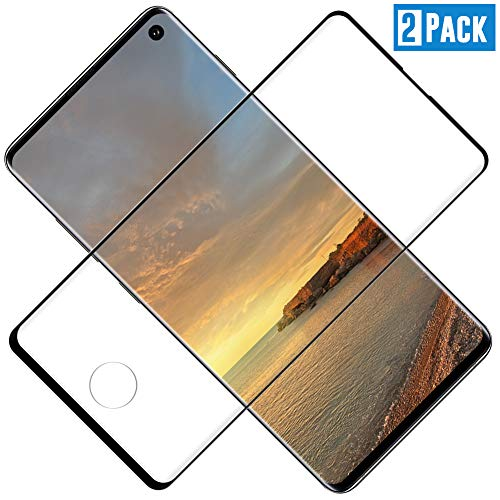 TOCYORIC Protector de Pantalla para Samsung Galaxy S10 Plus, [2 Pack] [3D Curvo Full-Cover] Cristal Templado Galaxy S10 Plus, Alta Definicion, 9H Dureza, Vidrio Templado para Samsung S10 Plus