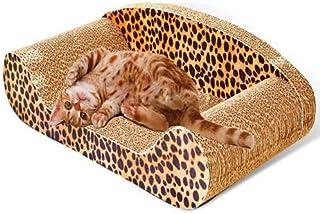 Cat Scratch Sofa Scratching Couch Post Corner Scratcher Toys Corrugated Cardboard Bed Pet Claw Scratch Resistant