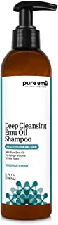 Pure Emu Deep Cleansing Emu Oil Shampoo: Infused With Pure, Fully Refined Emu Oil | Alcohol Free, Paraben-Free, SLS-Free | Convenient Pump Dispenser (Refreshing Rosemary Mint), 8 Fl Oz