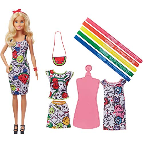 Barbie Crayola Color-In Fashions Doll & Fashions