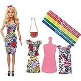 Barbie - Crayola Moda mil colores muñeca con vestidos y accesorios (Mattel GGT44) , color/modelo surtido