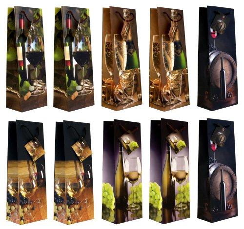 Taunus 99-3005 - Bolsas para botellas (10 unidades, diseño