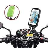 ENONEO Support Telephone Moto étanche Rotation à 360° Support Smartphone Moto Scooter avec Habillage Pluie Porte Téléphone pour Moto Rétroviseur pour iPhone X/XR/XS Max/8/Galaxy S8/S9 Jusqu'à 6.7'