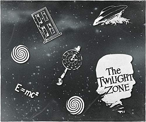 INTIMO The Twilight Zone Classic TV Series Super Soft and Cuddly Plush Fleece Throw Blanket 50' x 60' (127cm x152cm)