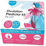 iProven Ovulation Predictor Kit - 50 LH Ovulation Test Strips and 20 HCG Early Response Pregnancy Test Strips for Trying to Conceive -at Home Fertility Tracker Kit (OPK) - Pruebas de embarazo
