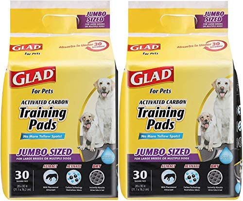 Glad for Pets Jumbo Size Charcoal Puppy Pads Black Training Pads That Absorb Neutralize Urine product image