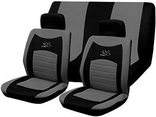 6PC WRX GREY BLACK CAR SPORTS SEAT COVERS UNIVERSAL SET