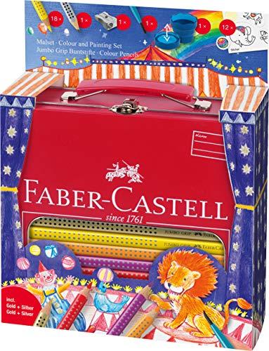 Faber-Castell A.W. 201352 - schilderset Jumbo Grip circus in metalen koffer