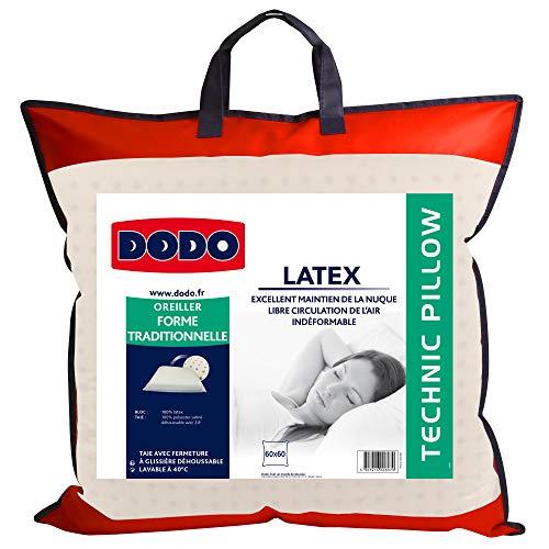 Comptoir du Linge DODO 60080.606 Oreiller Ergonomique Latex 60 cm x 60 cm Ergonomique