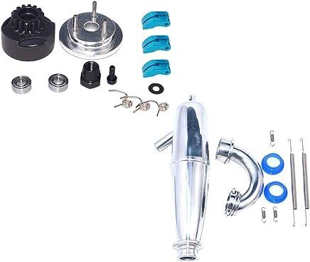 B Baosity Engranaje de Volante de Engranaje Cojinete de Embrague 14T + Tubo de Escape para