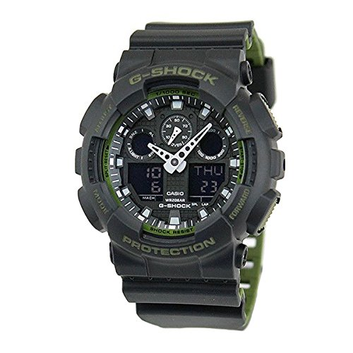 Casio GA-100L-1A G-Shock GA-100 Military Series Watch (Black / One Size)