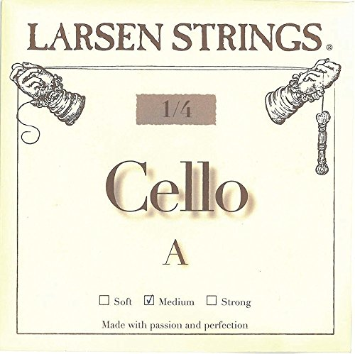Larsen Saite für Cello kleine Grössen Neue Cello-Saiten für kleine Instrumentengrößen.<p><br>- Kraft und Projektion, wie Saiten für 4/4 Instrumente<p><br>- Warme, reiche und fokussierte Klangfarbe<p><br>- Leichte Saitenansprache und hohe Stimmstabilität<p><br>- G und C in Spiralseil-Technologie für bestmögliche Flexibilität<p><br>- für 3/4 Cello<p><br>- A/D Chromstahl, G/C Wolfram-Kabelkern<p><br>-