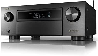 Denon AVR-X6700H 8K Ultra HD 11.2 Channel (140 Watt X 11) AV Receiver 2020 Model - 3D Audio & Video with IMAX Enhanced, Built for Gaming, Music Streaming, Alexa + HEOS