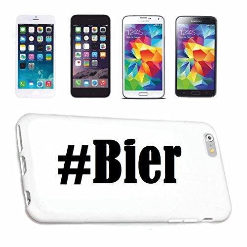 Bandenmarkt telefoonhoes compatibel met iPhone 7+ Plus Hashtag #Bier in Social Network Design Hardcase Beschermhoes Mobiele telefoon Cover Smart Cover