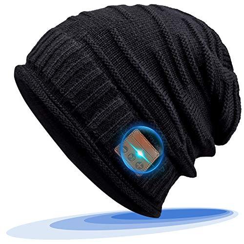 CHEERFUN Geschenke für Männer Frauen Bluetooth Mütze - Bluetooth 5.0 Personalisierte Geschenke Unisex Winter Strickmütze, Musik Mütze mit Drahtlose Kopfhörer für Laufen, Skifahren
