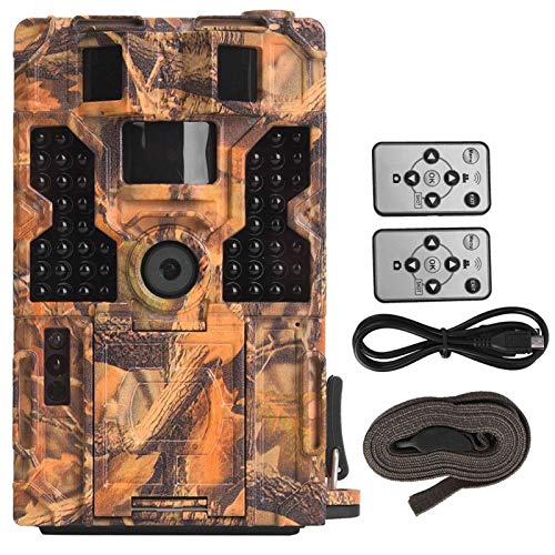 DAUERHAFT Cámara de Caza HD de Alta sensibilidad, visión Nocturna, cámara de Caza infrarroja, Resistente al Agua, Caza(Camouflage)