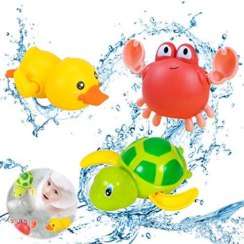 Set di 3 Tartaruga Giocattolo Che Nuota,Giocattoli da Bagno per Bambini,Vasca da Bagno Pool Toy,Giochi Bagnetto Bambini,Giocattolo per Vasca da Bagno per Bambini,Bambino Giocattoli Bagno (3)