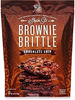 New Brownie Brittle, Chocolate Chip, 16 Oz Bag, Pack of 2, The Unbelievably Rich and Delicious Chocolate Brownie Snack with A Cookie Crunch (Packaging May Vary) … (2)