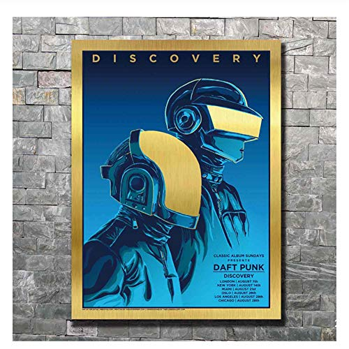 Daft Punk The Weeknd Art Poster Discovery Starboy Wall Canvas Print Decoración Pintura Imprimir en Lienzo Wall Art-50x70cm Sin Marco