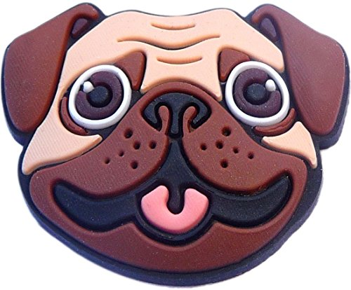 Pug Puppie Dog Rubber Charm for Wristbands and Shoes
