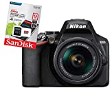 Nikon D3500 Fotocamera Reflex Digitale con Obiettivo Nikkor AF-P 18/55VR Memoria Sandisk 64 gb