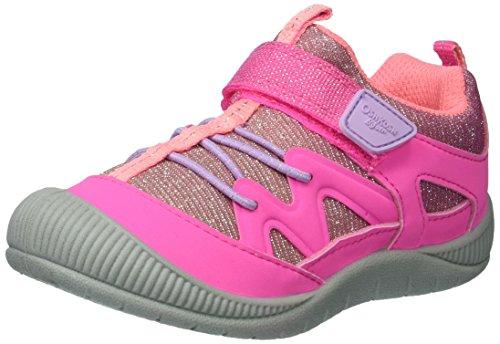 OshKosh B'Gosh Girls Abis Protective Bumptoe Sneaker, Pink, 8 M US Toddler