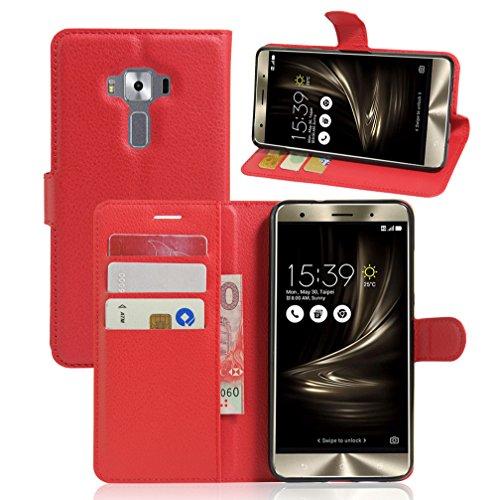 ASUS ZenFone 3 Deluxe/ ZS550KL Hülle,ASUS ZenFone 3 Deluxe/ ZS550KL Lederhülle,Handyhülle im Brieftasche-Stil für ASUS ZenFone 3 Deluxe.Schutzhülle mit [Standfunktion] [Kartenfach] [Magnetverschluss]