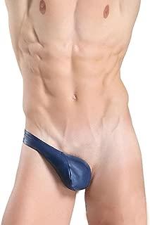 0 Shipping Sexy Half Thong Bulge Pouch Underwear Men Jockstrap Briefs Bikini Jockstraps (Dark blue)