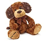 Personalized Brown and Tan Puppy Dog Jayden Plush Stuffed Animal Toy - 11 Inches
