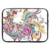 Colorful Cock Laptop Sleeve Bag - Funda para maletín con Funda para MacBook Pro/Notebook, Resistente al Agua