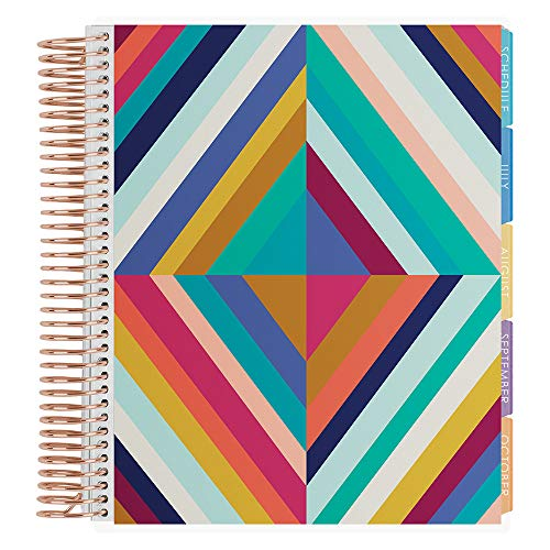 Erin Condren 12-Month Academic Planner (August 2020 - July 2021) - Oh So Retro Colorful, Rose Gold Coil - with Monthly View Tabs, Dated Calendar,...