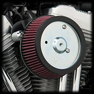 Arlen Ness 18-498 Big Sucker Stage 1 Air Cleaner Kit with Plain Backing Plate for 1999-2001 Harley FLT Touring Models