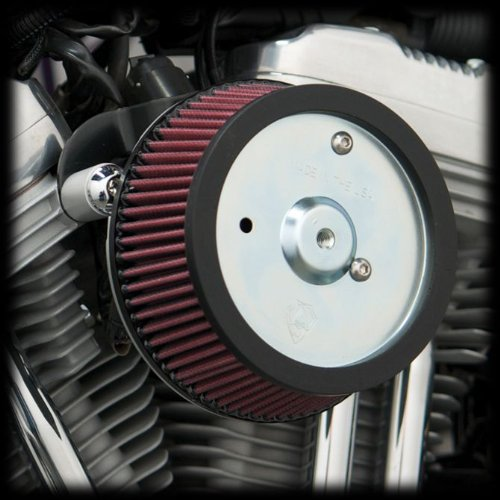 Arlen Ness 18-560 Big Sucker Stage 1 Air Cleaner Kit with Black Backing Plate for 2008-2013 Harley FLT Touring Models