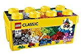LEGO 10696 Classic Medium Creative Brick Box, Easy Toy Storage, Lego Masters Fan Gift