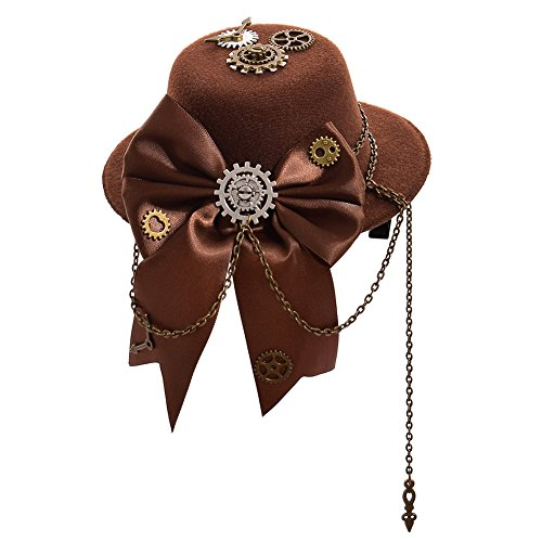 Double Villages Doppelt Dörfer Mini Hat Hair Clip Damen Steampunk Cosplay Party Mini Top Hat