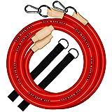 INERTIA WAVE - Battle Rope - Cuerda de Batalla con Anclaje y Agarres de Goma Antideslizantes - 3m y 1,4kg - Optimiza Tus Entrenamientos Combinando Fuerza, Resistencia y Coordinación - Rojo