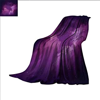 Nebula Super Soft Lightweight Blanket Cosmic Image of Stars in The Celestial Night Sky with Clouds Mystical Image Oversized Travel Throw Cover Blanket 60