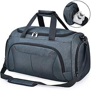 NUBILY Bolsa de Deporte Hombre Bolsas Gimnasio Mujer con Compartimento para Zapatos Bolsos de Viaje Grande Impermeable…
