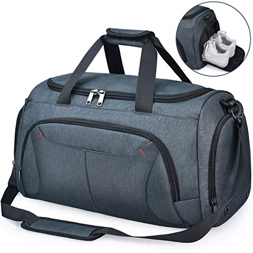 NUBILY Sports Gym Bag Duffel Bags with Shoes Compartment Waterproof Large...