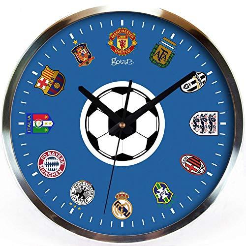 Creatieve Mode Eenvoudige Woonkamer Wandklok Volledige Mute Thuis Quartz Horloge Voetbal Game Slaapkamer Wandklok Art Klok