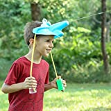 JOHEALS Water Games Toy Game Hat Wet Head for Kids Elephant Sprinkler with Real Elephant Sound Nose Spray Water Game Outdoor Best Gift Boy Girl (Blue)