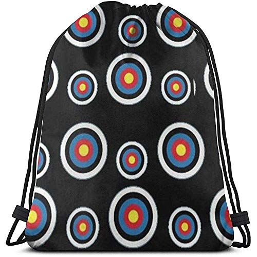 Dingjiakemao Beutel,Archery Target Colorado Circular 3D Print Drawstring Backpack Rucksack Shoulder Bags Gym Bag for Adult 36X43Cm