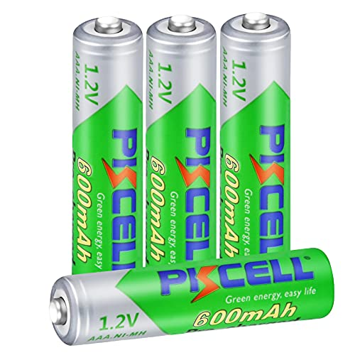 wiederaufladbar NIMH 1.2V AAA 600mAh Bereit Zu Benutzen Batterie für DECT Telefone Solar (4 Stück, AAA)