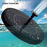Solar Fountain Pump,Feeke New Upgraded Mini Solar Powered Bird Bath Fountain Pump 2.5W Solar Panel Kit Water Pump,with 6 Different Spray Pattern Heads, for Pond, Pool, Garden, Fish Tank, Aquarium,Pat