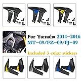 MT09 FZ09 FJ09 Cubierta del protector de los paneles laterales del enfriador del radiador del carenado for 2014 2015 2016 Yamaha FZ 09 MT 09 FJ 09 MT-09 FZ-09