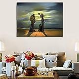 YuanMinglu Entdecken gruselige Landschaft leinwand gemälde drucken Wohnzimmer Dekoration Moderne ölgemälde wandkunst Bild rahmenlose malerei 72x90 cm