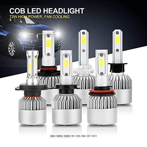 Luces led para Autos H7 Light LED CARIR DE CARIENTE Bulbs H4 H11 HB3 9004 HB3 9005 HB4 9006 H27 880 881 9007 H1 H3 12V 72W 8000LM 6000K S2 Auto Faro Luces led para Coches