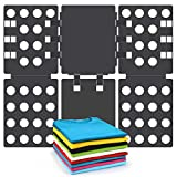 T shirt Clothes Folder T-shirt Folding Board Flip Fold Laundry Organizer Easy and Fast for Kid and Adult to Fold Clothes Black